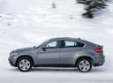 Фото авто BMW X6 E71 [рестайлинг], ракурс: 90 цвет: серый
