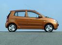 Фото авто Kia Picanto 1 поколение, ракурс: 270 цвет: коричневый