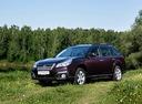Фото авто Subaru Outback 4 поколение [рестайлинг], ракурс: 45 цвет: вишневый