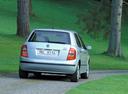 Фото авто Skoda Fabia 6Y, ракурс: 180 цвет: серебряный