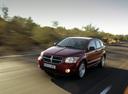 Фото авто Dodge Caliber 1 поколение, ракурс: 45 цвет: красный