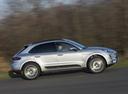 Фото авто Porsche Macan 1 поколение, ракурс: 270 цвет: серебряный