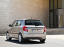 Фото авто Skoda Fabia 5J, ракурс: 135 цвет: серебряный