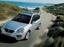 Фото авто Kia Carens 3 поколение [рестайлинг], ракурс: 45 цвет: серебряный