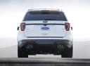 Фото авто Ford Explorer 5 поколение [2-й рестайлинг], ракурс: 180 цвет: белый