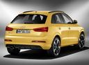 Фото авто Audi RS Q3 8U, ракурс: 225 цвет: желтый