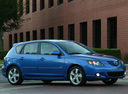 Фото авто Mazda 3 BK, ракурс: 315 цвет: синий