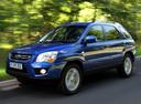 Фото авто Kia Sportage 2 поколение [рестайлинг], ракурс: 45 цвет: синий