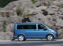 Фото авто Volkswagen California T6, ракурс: 270 цвет: синий