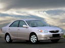 Фото авто Toyota Camry XV30, ракурс: 315 цвет: бежевый