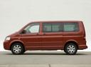 Фото авто Volkswagen Multivan T5, ракурс: 90 цвет: красный