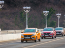 Фото авто ВАЗ (Lada) XRAY 1 поколение, ракурс: 45 цвет: желтый