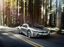 Фото авто BMW i8 I12, ракурс: 315 цвет: серебряный