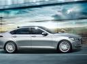 Фото авто Hyundai Genesis 2 поколение, ракурс: 270 цвет: серебряный