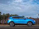 Фото авто Nissan Qashqai 2 поколение [рестайлинг], ракурс: 270 цвет: голубой