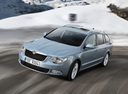 Фото авто Skoda Superb 2 поколение, ракурс: 45 цвет: синий