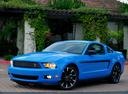 Фото авто Ford Mustang 5 поколение [рестайлинг], ракурс: 45 цвет: голубой