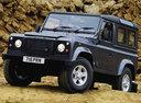 Фото авто Land Rover Defender 1 поколение, ракурс: 45 цвет: синий