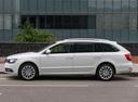 Фото авто Skoda Superb 2 поколение [рестайлинг], ракурс: 90 цвет: белый