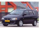 Фото авто Mitsubishi Space Star 1 поколение [рестайлинг], ракурс: 45 цвет: черный