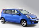 Фото авто Nissan Note E11, ракурс: 315 цвет: синий