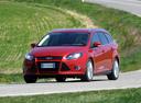 Фото авто Ford Focus 3 поколение, ракурс: 45 цвет: красный