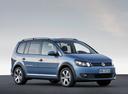 Фото авто Volkswagen Touran 1 поколение [2-й рестайлинг], ракурс: 270 цвет: синий