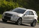 Фото авто Mercedes-Benz M-Класс W164 [рестайлинг], ракурс: 45 цвет: серебряный