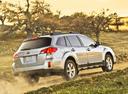 Фото авто Subaru Outback 4 поколение [рестайлинг], ракурс: 225 цвет: серебряный