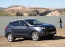 Фото авто Hyundai ix35 1 поколение, ракурс: 315 цвет: серый