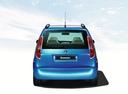 Фото авто Skoda Roomster 1 поколение, ракурс: 180 цвет: голубой