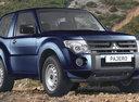 Фото авто Mitsubishi Pajero 4 поколение, ракурс: 315 цвет: синий