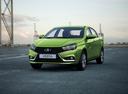 Фото авто ВАЗ (Lada) Vesta 1 поколение, ракурс: 45 цвет: зеленый