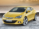 Фото авто Opel Astra J [рестайлинг], ракурс: 45 цвет: желтый