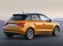 Фото авто Audi A1 8X, ракурс: 225 цвет: оранжевый