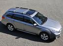 Фото авто Subaru Outback 4 поколение, ракурс: 270 цвет: серебряный