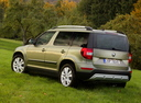 Фото авто Skoda Yeti 1 поколение [рестайлинг], ракурс: 135 цвет: зеленый