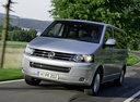 Фото авто Volkswagen Multivan T5 [рестайлинг], ракурс: 45 цвет: серебряный