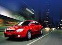 Фото авто Kia Cerato 1 поколение, ракурс: 45 цвет: красный