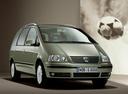 Фото авто Volkswagen Sharan 1 поколение [2-й рестайлинг], ракурс: 315 цвет: зеленый