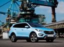 Фото авто Hyundai Santa Fe DM, ракурс: 315 цвет: голубой