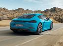 Фото авто Porsche Cayman 982, ракурс: 225 цвет: аквамарин