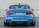 Фото авто BMW M3 F80, ракурс: 180 цвет: голубой