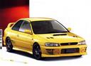 Фото авто Subaru Impreza 1 поколение [рестайлинг], ракурс: 315 цвет: желтый