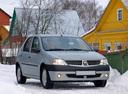 Фото авто Renault Logan 1 поколение, ракурс: 315 цвет: серебряный