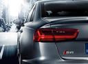 Фото авто Audi S6 C7 [рестайлинг], ракурс: задняя часть цвет: серый