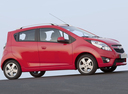 Фото авто Chevrolet Spark M300, ракурс: 270 цвет: красный