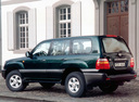 Фото авто Toyota Land Cruiser J100, ракурс: 90 цвет: зеленый