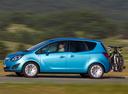 Фото авто Opel Meriva 2 поколение, ракурс: 90 цвет: голубой