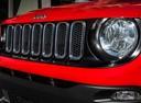 Фото авто Jeep Renegade 1 поколение, ракурс: передняя часть цвет: красный